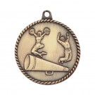 Large Relief Co-ed Cheerleader Medallion
