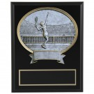 Large Oval Resin Tennis Wall Plaque