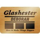 Rectangle Gold Metal Name Badge