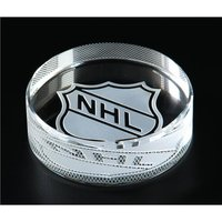 Engraved Crystal Hockey Puck
