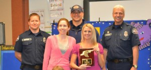 Operation Bald Eagle and Eastside Fire & Rescue recognize Creekside Elementary for their supply drive.