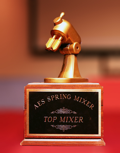 "The ""Top Mixer"" perpetual trophy."